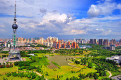 Chinese cities today Stock Photo