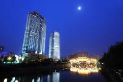 Chinese city Chengdu Royalty Free Stock Images