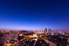 Chinese city at night Stock Image