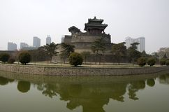 Chinese city wall Handan royalty free stock images