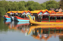 Chinese classic boat Stock Image