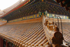 Chinese classic buildings roof Stock Photos