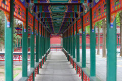 Chinese classic corridor Stock Photography