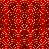 Chinese classic ornament. Glow Pattern Chinese New Year. royalty free illustration
