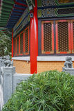 Chinese classic red pagoda style building wall Royalty Free Stock Image