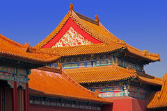 Chinese classic roof. Forbidden city Stock Image