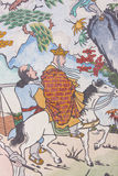Chinese classic wall painting Stock Images
