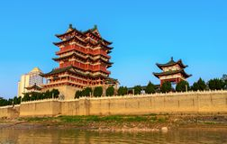 Chinese Classical Architecture. Tengwang Pavilion,Nanchang,traditional, ancient Chinese architecture, made of wood Royalty Free Stock Image