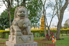 Free Chinese Classical Buddah And Stone Lions In A Temple Royalty Free Stock Images - 76765419