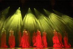 Chinese classical dance, stage performance Royalty Free Stock Images