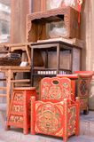 Chinese classical furniture. Antique city of Beijing. This is a very famous market of antique of Beijing Royalty Free Stock Photos