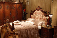 Chinese classical furniture - bedroom Stock Photos