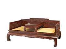 Chinese classical furniture  of Ming-style. Lohan bed made by red sandalwood, or Zitan  in  chinese Royalty Free Stock Image