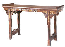 Chinese classical furniture  of Ming-style. Painting table  made by red sandalwood Stock Photos