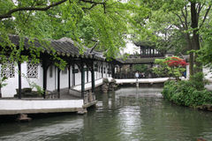 Chinese classical garden. Landscape of beautiful Chinese Classical Garden. Zhuozheng Garden. Suzhou. China stock photos