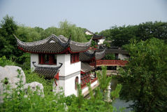 Chinese Classical Gardens. A classical Chinese pavilion,which Taken in gardens in Suzhou, China royalty free stock photo