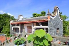 Chinese classical house baiyunju near stone bridge Royalty Free Stock Images