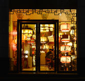 Chinese classical  lightings Through  lighting shop window,Commercial lighting,  Home Furnishing lamp Royalty Free Stock Image