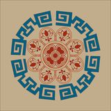 Chinese classical totem vector illustration design royalty free illustration