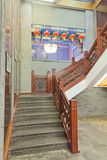 Chinese classical wood stairway. Beijing Stock Photos