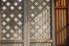 Chinese classical wooden building: art window texture. Chinese classical wooden building,art window texture Stock Images