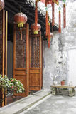 Chinese classical wooden doors stock photo