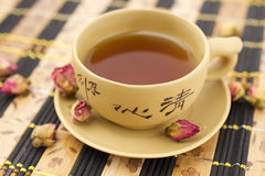 Chinese clay cup. Chinese traditional clay cup of tea Royalty Free Stock Photos