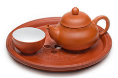 Chinese clay teapot Royalty Free Stock Photos