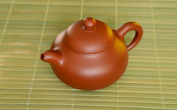 Chinese clay teapot. Royalty Free Stock Photo