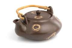 Chinese clay teapot isolated Stock Photos
