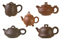 Chinese clay teapots Royalty Free Stock Photography