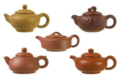 Chinese clay teapots. Stock Images