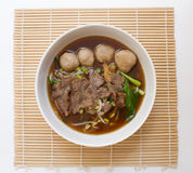 Chinese clear soup with boiled entrails and vegetables stock photography