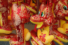 Chinese cloth snake toy Stock Photos