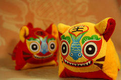Chinese cloth tiger. These are chinese traditional handicrafts,which called cloth tiger Stock Photo