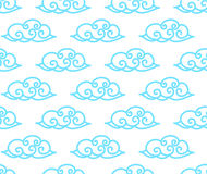 Chinese clouds seamless background. Asian style cute clouds background Stock Images