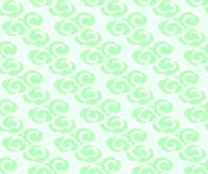 Chinese clouds seamless background. East asian style cute clouds background. Jade chinese clouds on light background Royalty Free Stock Images