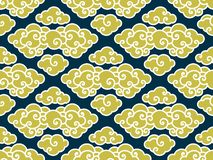 Chinese clouds traditional seamless pattern stock illustration