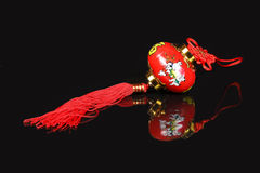 Chinese CNY decoration. Charm wishes feng shui Stock Images