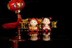 Chinese CNY decoration. Charm wishes feng shui Stock Photography