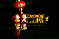 Chinese CNY decoration. Charm wishes feng shui Stock Photo