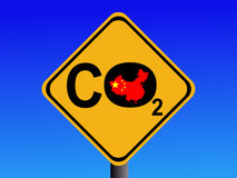 Chinese CO2 emissions sign Stock Image