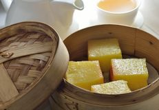 Chinese coconut egg cake Stock Photos