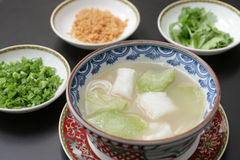 Chinese cod & gourd soup Royalty Free Stock Image
