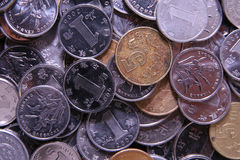 Chinese coins. China currency renminbi people's currency Stock Image