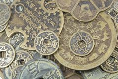 Chinese Coins Stock Photo