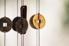 Chinese coins chime Royalty Free Stock Image
