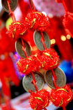 Chinese coins for Lantern Festival royalty free stock images