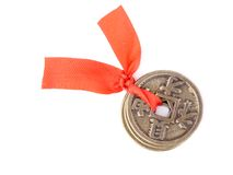 Chinese coins of luck Stock Photo