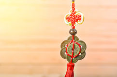 Chinese coins of luck. Royalty Free Stock Photography
